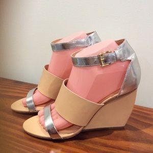Rebecca Minkoff Stella Tan Leather Wedge Shoes 8M